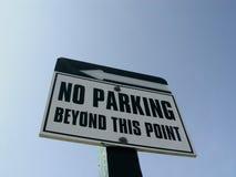 禁止停车符号 免版税库存图片