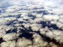 空中云彩形成视图 图库摄影