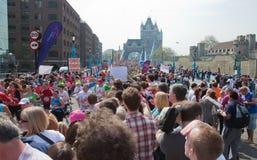 31st London maraton Arkivfoto
