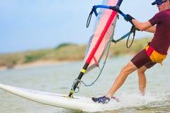 32风帆冲浪者 免版税图库摄影