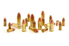 32 caliber and 22 caliber ammunition  Stock Photos