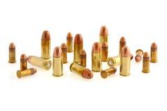 32 caliber and 22 caliber ammunition. On white Stock Photos