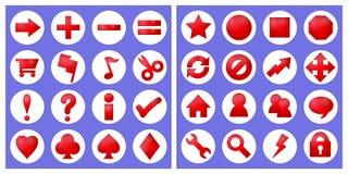 32 icone di base Fotografia Stock Libera da Diritti