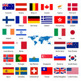 32 Industrialized country flag royalty free illustration