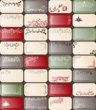 32 Visitenkarten in der Retro Art stock abbildung