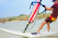 32 windsurfer Fotografia Royalty Free