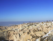 323 Untertagestädte in Capadocia die Türkei Stockfotografie