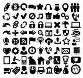 324 iconos del Web Fotografía de archivo