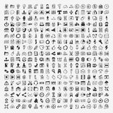324 Vector Doodle Web Icons Royalty Free Stock Photography