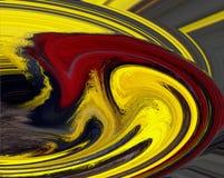 红色漩涡黄色 库存照片