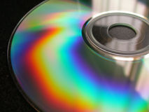 背景CD-ROM 免版税库存照片