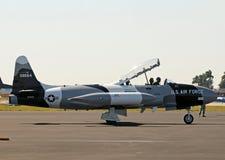 33寒冷时代喷气式歼击机流星t战争 免版税库存照片