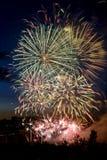 33 πυροτεχνήματα Στοκ φωτογραφία με δικαίωμα ελεύθερης χρήσης