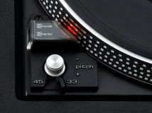 33 or 45. Turntable Stock Images