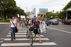 33 anti apec honolulu занимает протест Стоковая Фотография RF