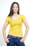 33 asiatiska attraktiva flickabarn Royaltyfria Bilder