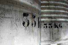 33 Kilogramm-Faß Stockbilder