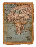 33 Map of Africa. Map of Africa of the nineteenth century Stock Image