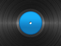 33 RPM Record. Illustration of vinyl long-play record with blue label Royalty Free Stock Photography