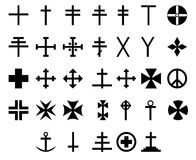33 symboles en travers Photo stock
