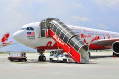 330 Air Asia 免版税库存照片