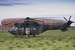 330h aerospatiale直升机sa美洲狮 库存图片