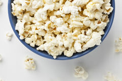 331 pop corn bowl. Top view and cropped image of a pop corn bowl Royalty Free Stock Photo