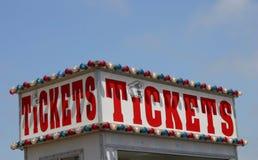 获得这里卖票您 免版税库存照片