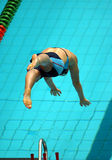 34启动游泳 免版税库存照片