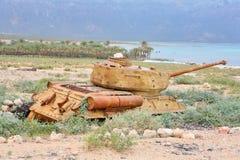 34次争斗苏联t坦克 库存图片