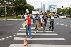 34 anti apec honolulu занимает протест Стоковые Фотографии RF