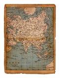 34 kaart van Azië Stock Foto's