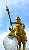 34.Kinnorn Holding Energy Saving Lamp. Kinnorn, in myth, holding the public lamp is elegantly decoration Stock Photos