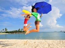 34 zabawa plażowa Zdjęcia Royalty Free