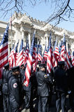 343 FDNY Flag Bearers in NYC Parade. 343 FDNY Honor Guard at the St. Patrick's Day Parade - Circa 2009 Stock Image