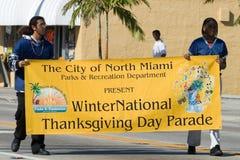 34th однолетнее winternational благодарения парада дня Стоковое Изображение