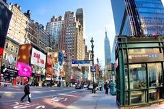 34to Calle Manhattan Fotos de archivo libres de regalías