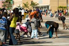 34to Desfile anual del día de la acción de gracias de WinterNational Foto de archivo