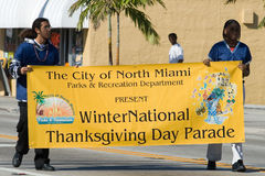 34to Desfile anual del día de la acción de gracias de WinterNational Imagen de archivo