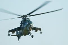 35航空airshow捷克军队mi波兰拉多姆 免版税库存照片