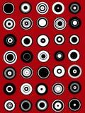 35 éléments de dessin de cercle Photographie stock libre de droits