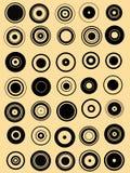35 элементов круга графических Стоковое Изображение