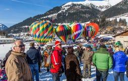 35. Ballon-Festival der Heißluft-2013, die Schweiz Lizenzfreie Stockfotos