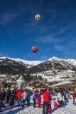 35. Ballon-Festival der Heißluft-2013, die Schweiz Lizenzfreie Stockbilder