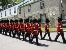 35 Canadian Brigade Group Marches, Canada Day 2007 Stock Photography