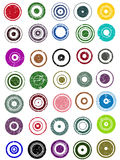 35  Circle Graphic Elements. 35 Grunge Circle Graphic Elements (Individually grouped, colors can easily be changed Stock Photos