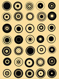 35 Kreis-Grafik-Elemente Stockbild