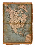 35 Map of North America Royalty Free Stock Image