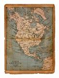 35 Map of North America. Map of North America of the nineteenth century royalty free stock image