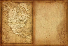 35 Map of North America Royalty Free Stock Photography